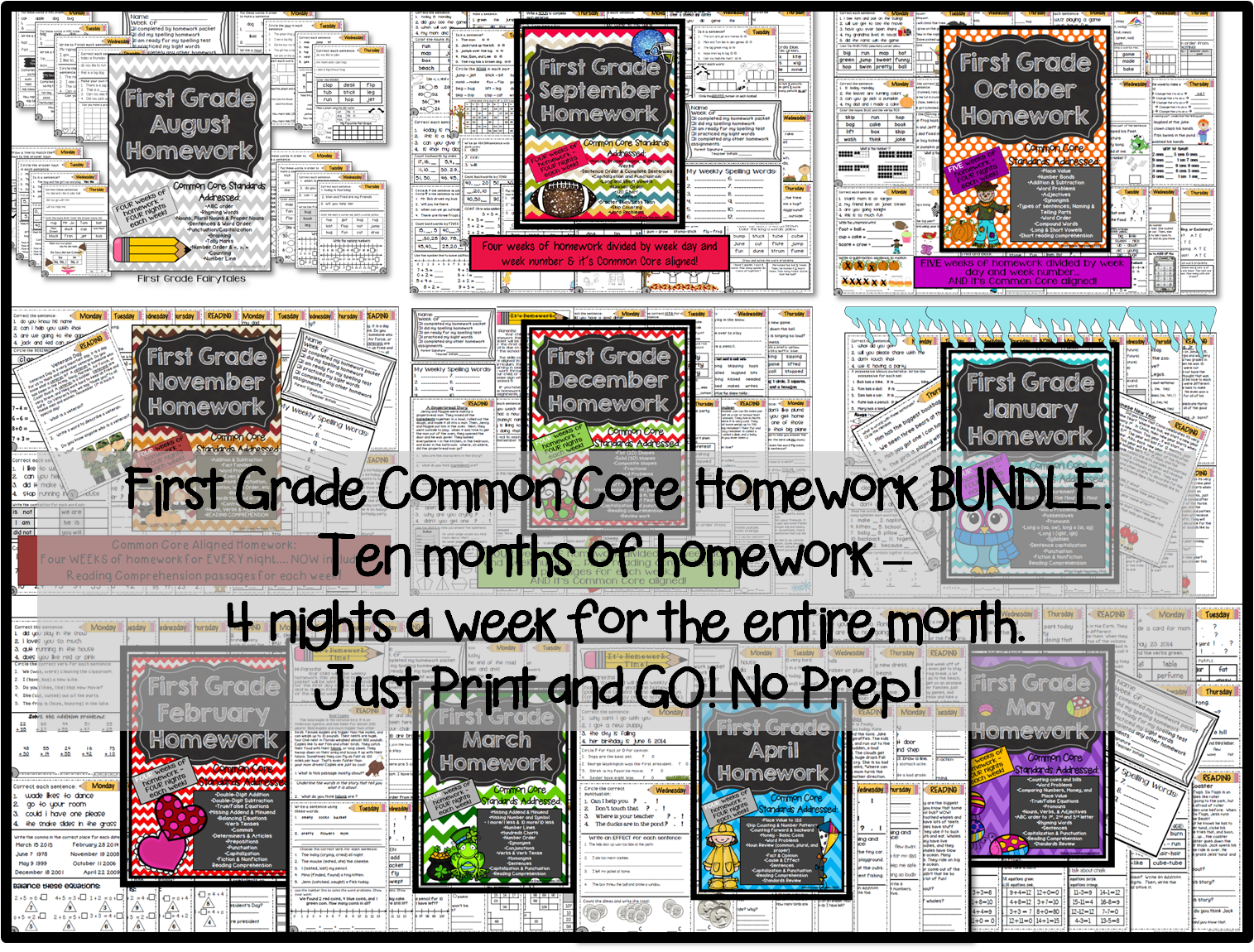 http://www.teacherspayteachers.com/Product/First-Grade-Common-Core-Homework-BUNDLE-1230833