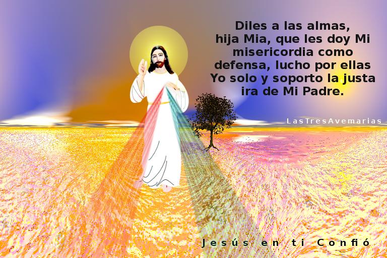 imagen de jesus con un arbol de fond