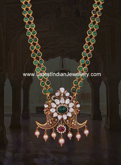 Emerald Haram with Puligoru Pendant
