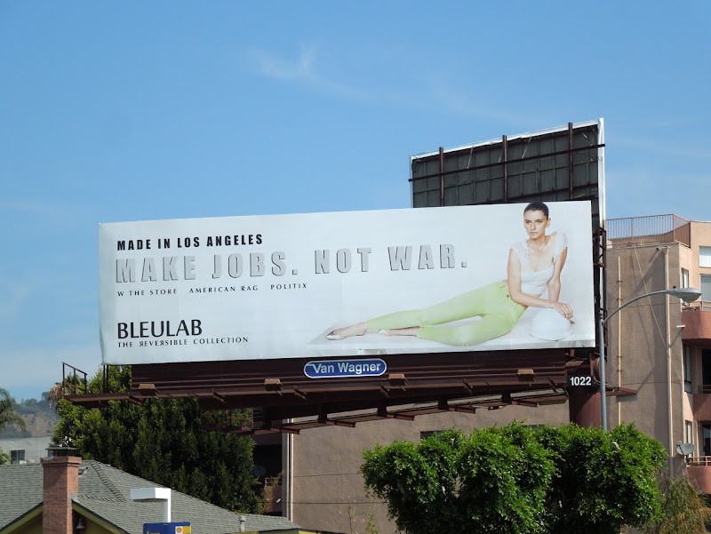 Make Jobs Not War billboard