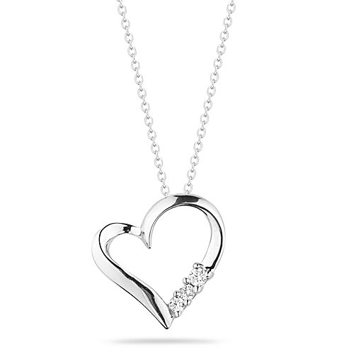 This 10k Gold Or Sterling Silver 3 Stone Heart Pendant Necklace Is Rated  4.0 Out Of 5 Stars On Amazon Click Here ...