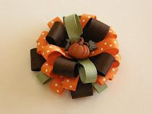 Fall Pumpkin Bow
