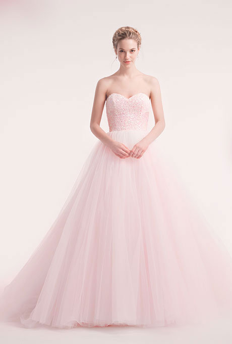view cars on the web: más vestidos de novia de color rosa - largos