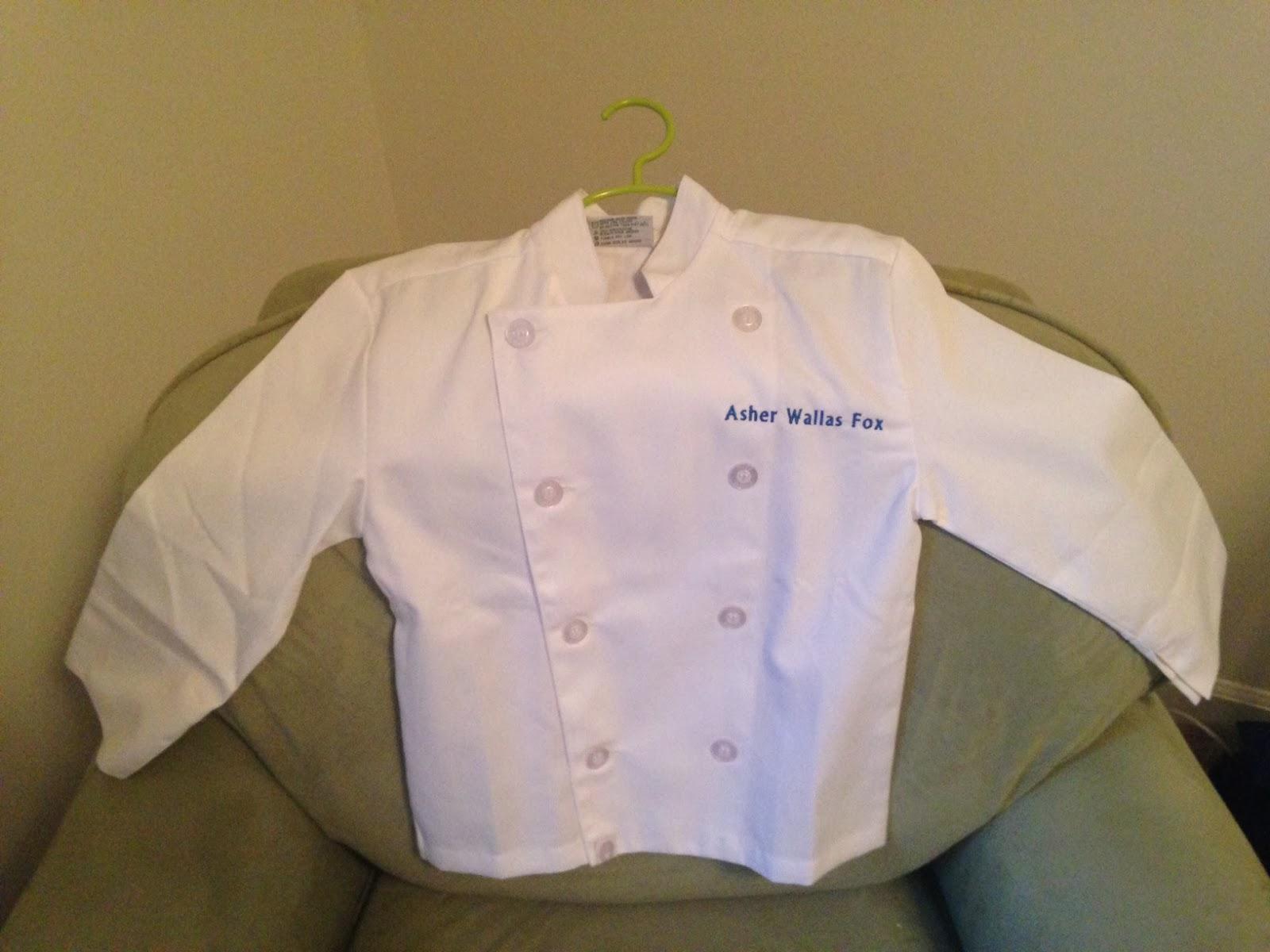 Amy On Food - Charlotte and Atlanta Food: Kids White Chef's Jacket ...