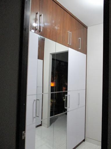 Lemari minimalis full plafon Bapak AAn at Lanata 2 residance  jagakarsa