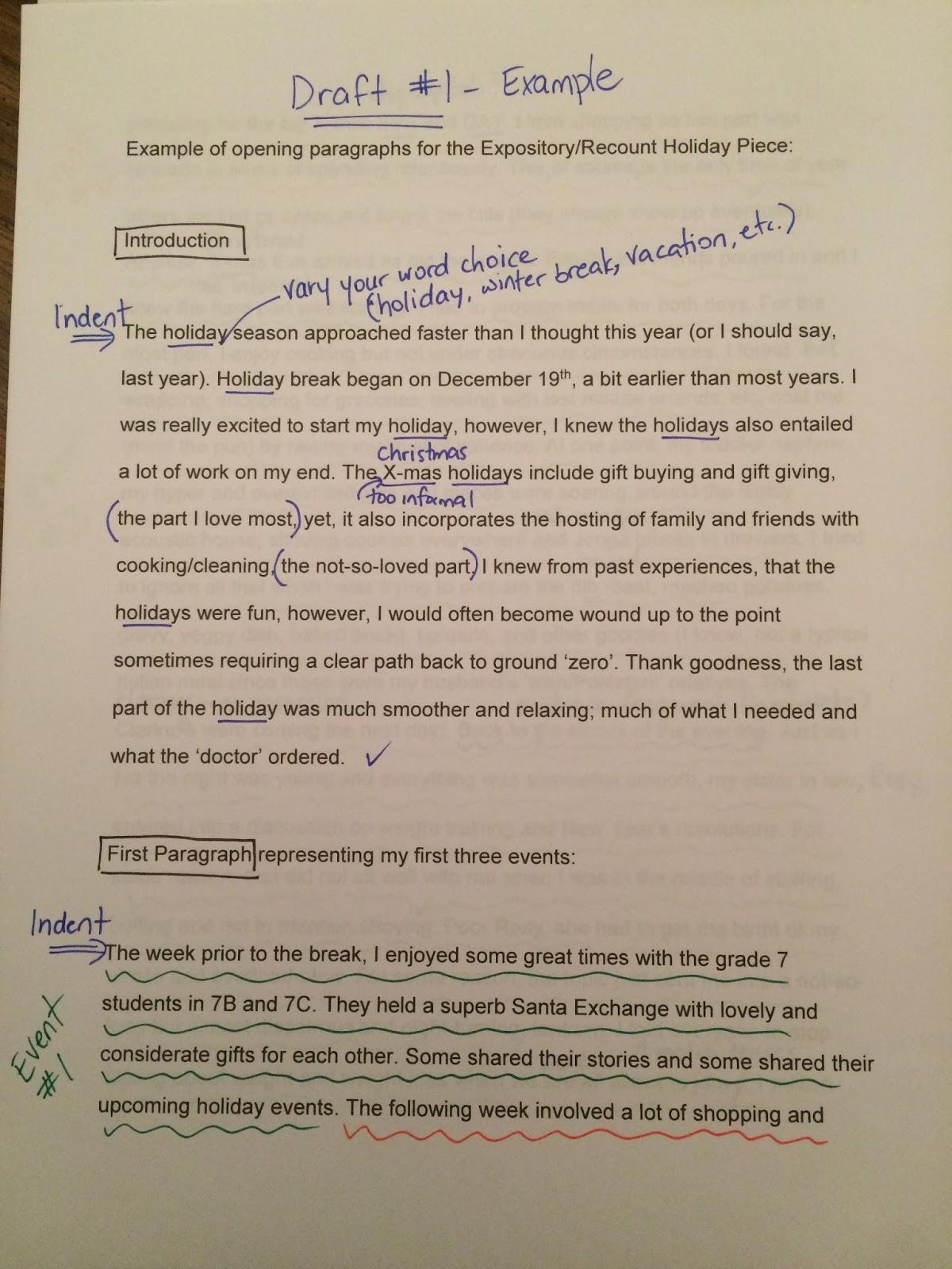 6 paragraph christmas essay