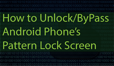 Easily Bypass/Crack/Unlock Android Pattern Lockscreen ,PIN or Password from ADB
