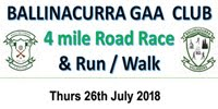 4 mile race nr Midleton...Thurs 26th July 2018