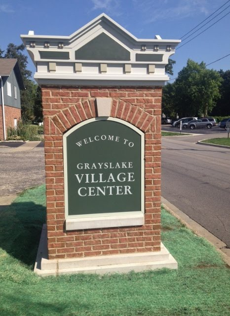 New Grayslake Village Center Entryway Markers