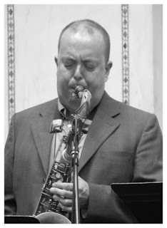Bill McHenry - Tenor Saxophone - Ben Waltzer - Chicago Jazz Festival 2015   Photograph by Tom Bowser