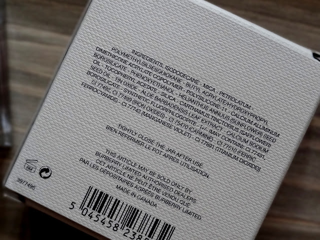 Burberry Beauty Eye Colour Cream in Pink Heather No.106 Ingredients