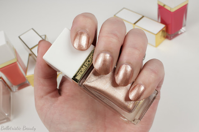 Tom Ford 02 2 Incandescent Nail Polish Lacquer swatch, Spring 2014 Collection in studio lighting
