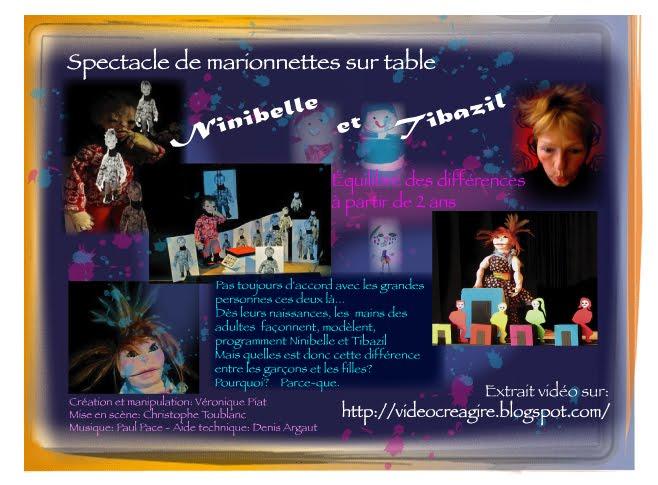 """""""Ninibelle et Tibazil"""" Spectacle de marionnettes jeune public sur l'équilibre des différences entre"""