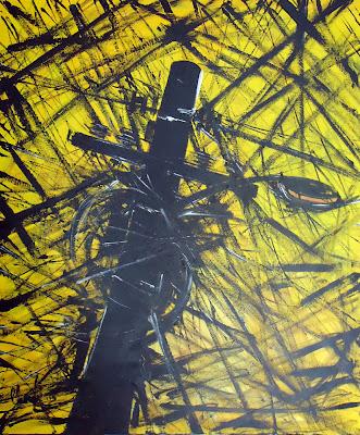 Clameli - Poste amarelo - Acrílico s/ tela