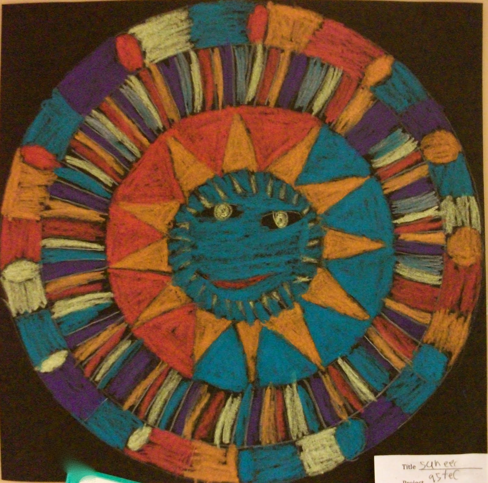 Aztec Calendar Art Lesson : Aztec suns art projects from mn gal