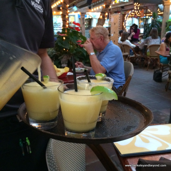 margaritas at Miguel's Cocina at El Cordova Hotel on Coronado Island, California