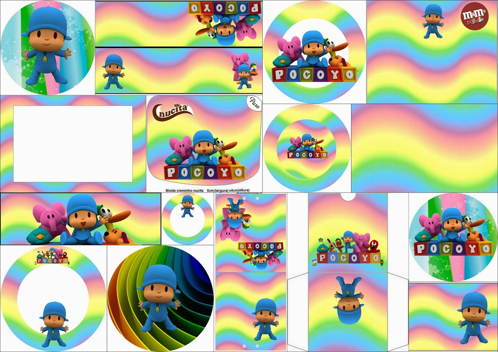 Pocoyo: Free Printable Candy Buffet Labels.