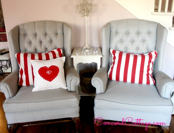 From My Front Porch To Yours- Treasure Hunt Thursday-Concord Cottage heart Pillow