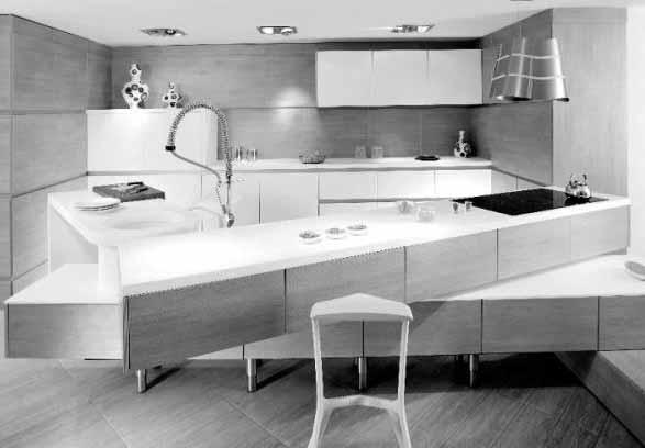 Desain dapur kayu modern cubello ice kitchen dari amr for Amr helmy kitchen designs