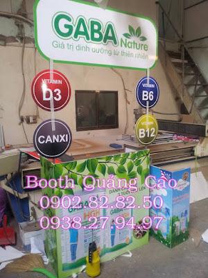 quầy bán hàng sữa GaBa