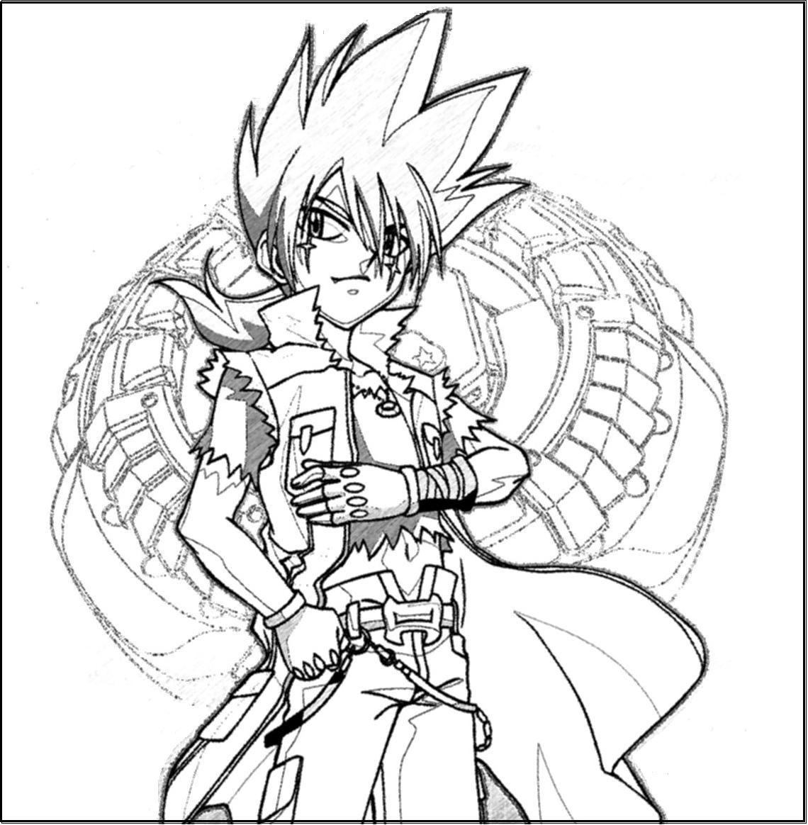 Free coloring pages for Beyblade shogun steel coloring pages