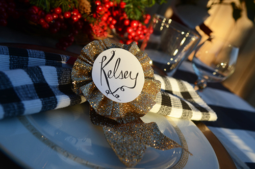 equestrian, traditional tablescape for the Christmas holiday