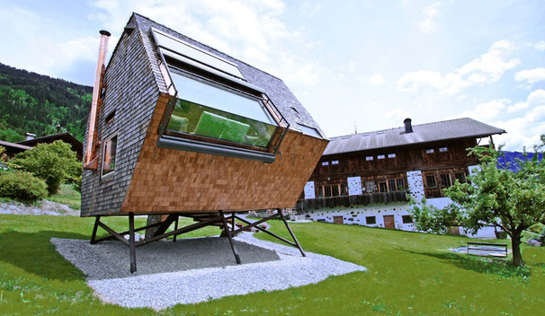 Lloyds Blog Modern tiny house rental sits like a UFO in the