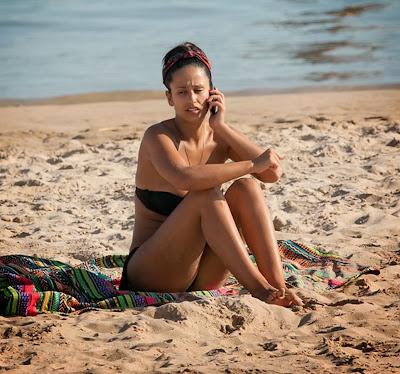 Fotos de Rita Pereira em Bikini na praia