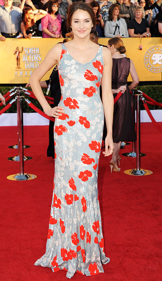 LWren+Scott+gown+ +Shailene+Woodley+designer+SAG+awards+2012