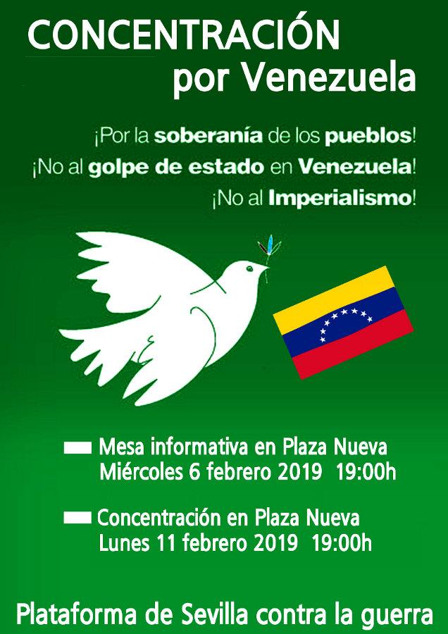 CONCENTRACIÓN POR VENEZUELA (día 11) ¡Por la soberanía de los pueblos!