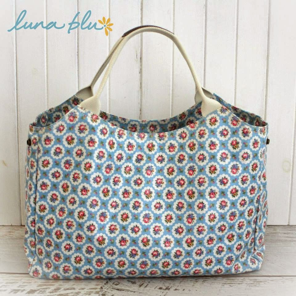 Luna Blue madison handbag floral fushion