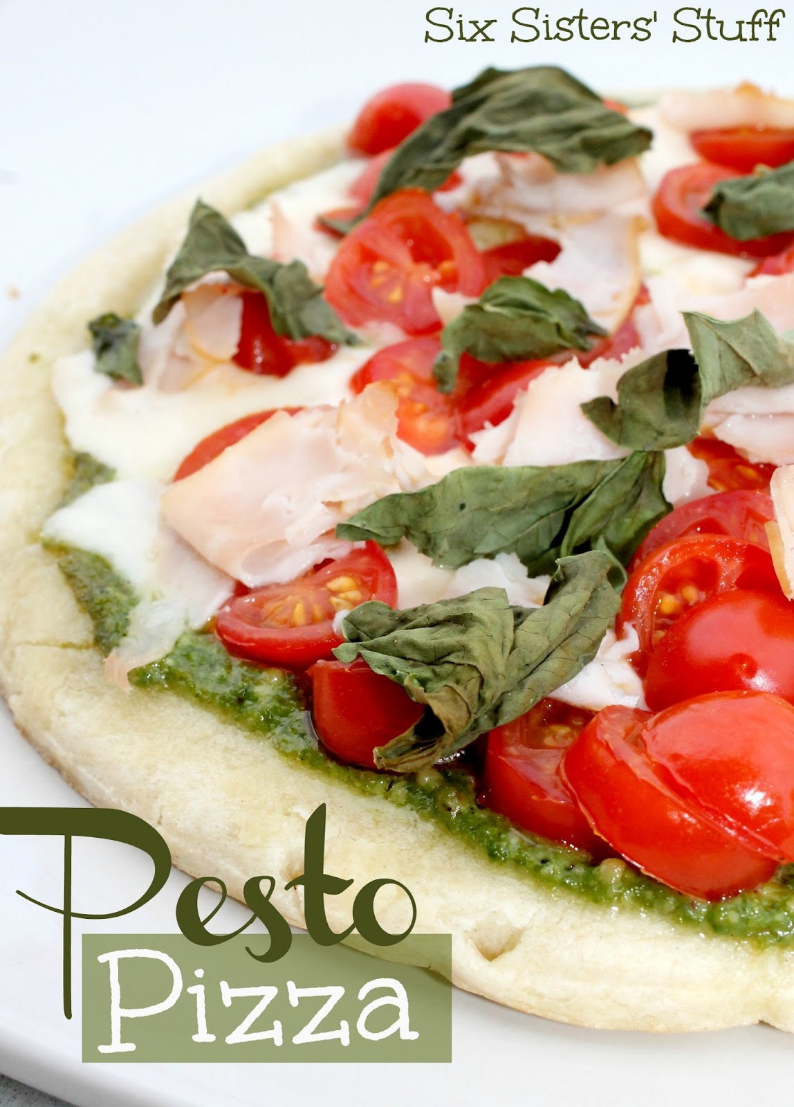 Fresh Pesto Pizza | Six Sisters' Stuff