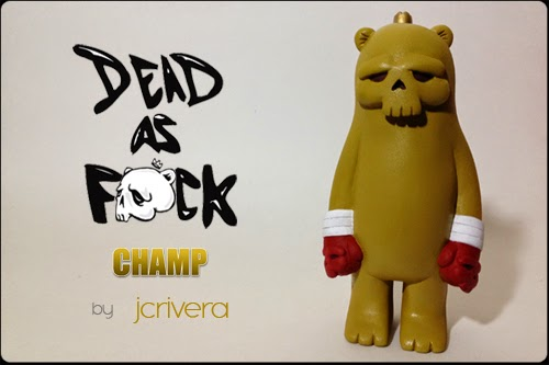 OG Golden Brown Edition Dead as F#ck Champ Resin Figure by JC Rivera