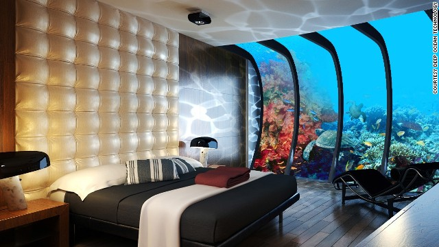 Space age underwater hotel planned for maldives noon Hoteles con habitaciones sobre el mar