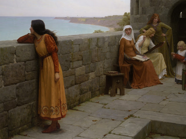 hostage,medieval painting, Leighton
