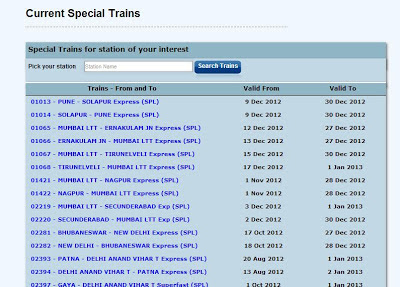 CHRISTMAS AND NEW YEAR SPECIAL TRAINS LIVE UPDATES