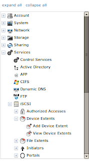 FreeNAS device extents