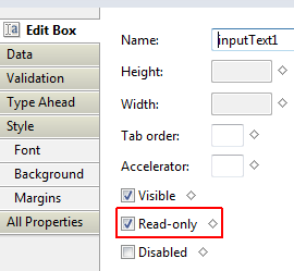 how to make a text box read out a function