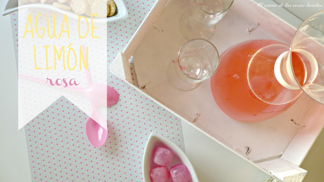 agua limón limonada rosa pink lemonade