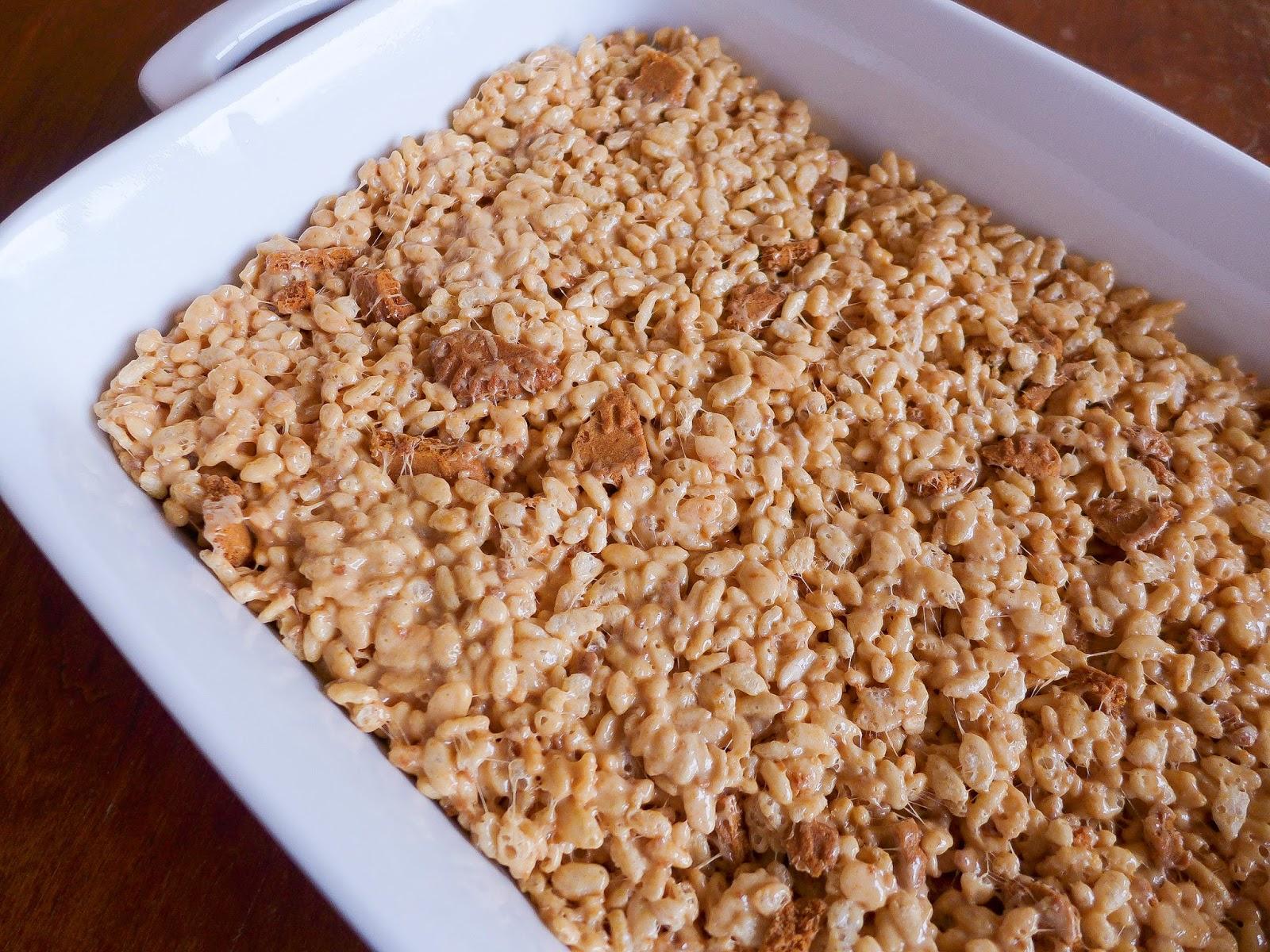 Dimples & Delights: Biscoff Brown Butter Rice Krispie Treats