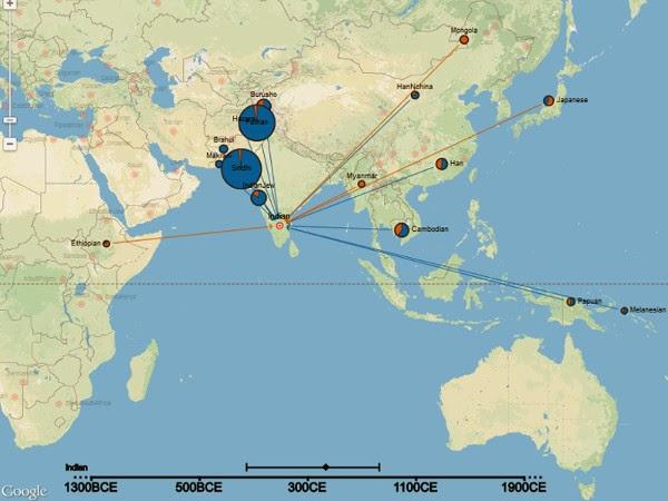 Peta sejarah genetik manusia