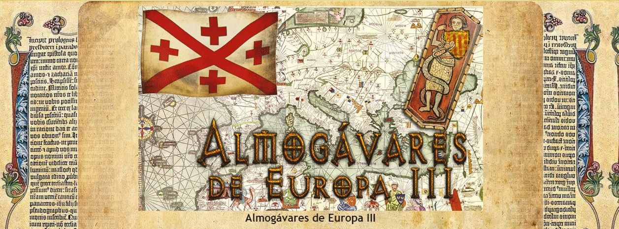 ALMOGÁVARES DE EUROPA, atuendo, equipación  y armas.