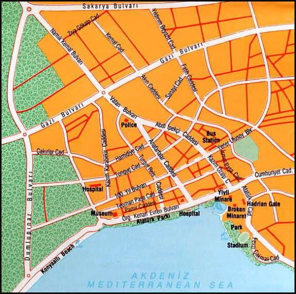 Antalya maps