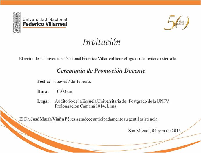 VICERRECTORADO ACADEMICO - UNFV: febrero 2013