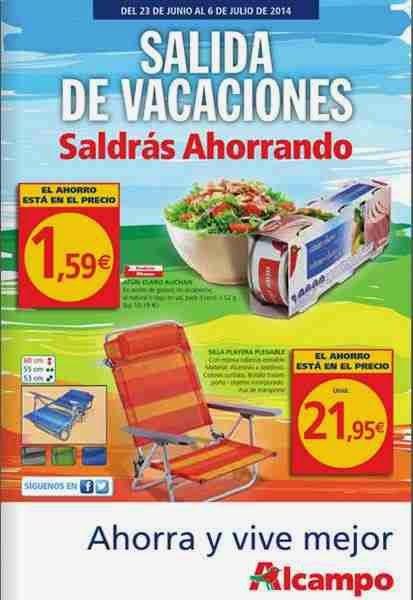 Salida de vacaciones alcampo ofertas hasta el 6 julio 2014 for Piscinas hinchables alcampo