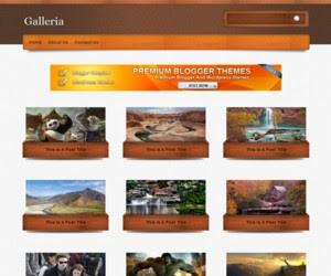 Galleria Blogger Template