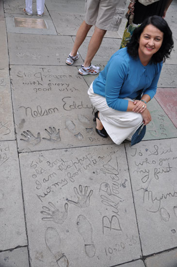 William Powell footprints Grauman's Chinese Theater by Lady by Choice