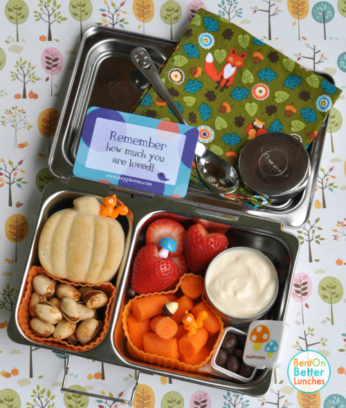 Fall PlanetBox Shuttle with baked pancake muffins