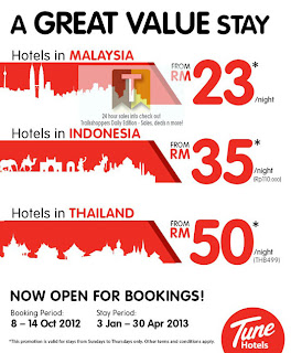 Tune Hotels Downtown KL Penang KK KB JB IPOH Rooms From RM23 Offer 2012