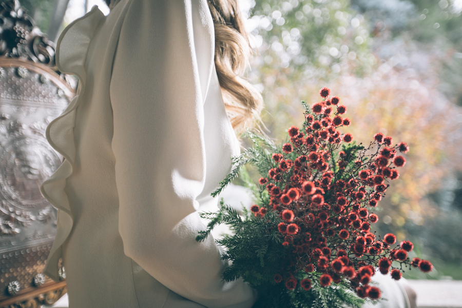 tocados novia diadema flores